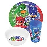 PJ Masks Official 3PC Dinner Set (One Size) (Multicolour)