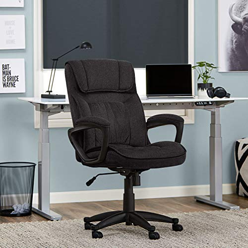 Serta Style Hannah I Office Chair, Microfiber, Black