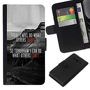 JackGot ( Divertente evocativi Messaggio Oggi ) Samsung Galaxy A3 la tarjeta de Crédito Slots PU Funda de cuero Monedero caso cubierta de piel