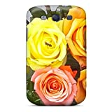 Brave Girl Fashion Protective Bee On Rose Case Cover For Galaxy S3