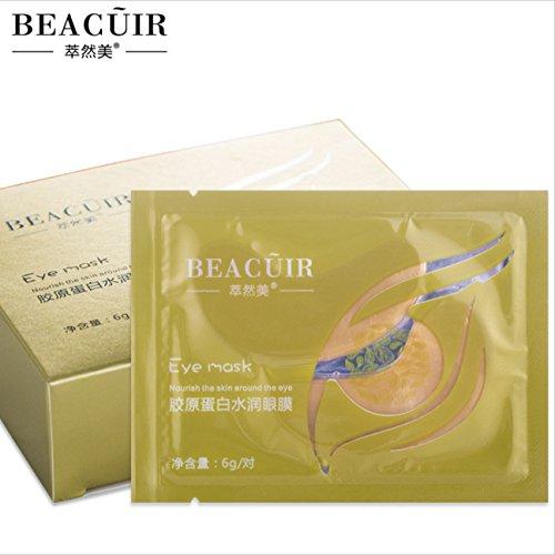 BEACUIR 24K Gold Moisturizing Skin Gel Collagen EYE Hydrating Face Masks 10pcs - PACK
