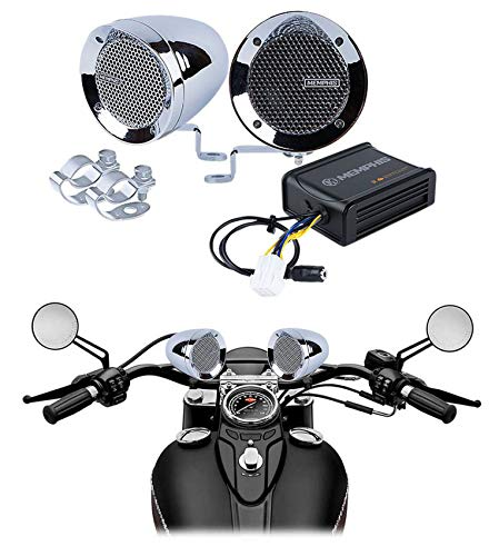 Memphis Chrome Motorcycle Speakers Audio System For Royal Enfield Himalayan (Best Handlebar For Royal Enfield)