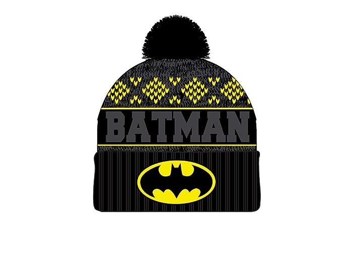 e76cb026c2b Amazon.com  DC Comics Batman Jaquard Logo Embroidered Cuff Beanie ...