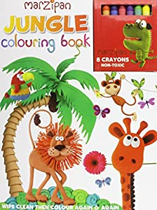 jungle wipe clean colouring book and crayon set with crayons - Coloring Book Crayons