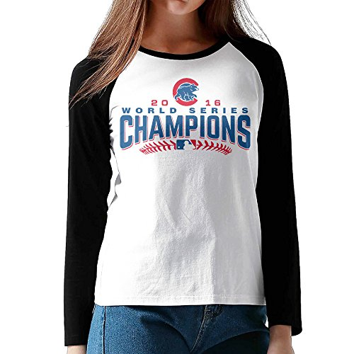 pions Long Sleeve Baseball Raglan Shirts For Women S Black ()