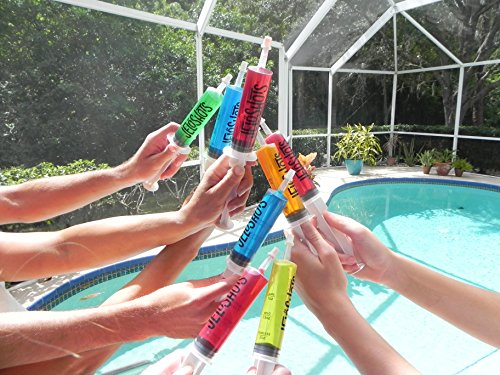 Jello Shot Syringes 32-Pack, Medium (up to 2oz), The Original JeloShots Gelatin Jello Shot Syringes with Easy-Grip Caps, Reusable