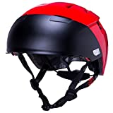 Kali Protectives City Helmet w/ Shield Large/X-Large Solid Red For Sale
