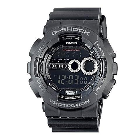 Casio Men's GD100-1BCR G-Shock X-Large Black Multi-Functional Digital Sport Watch (G Shocks X Large)
