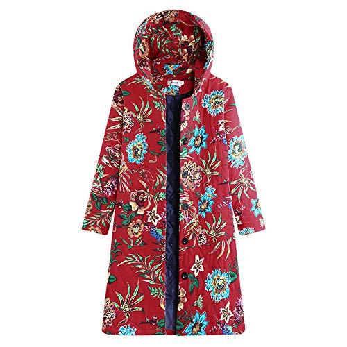 Advance Vintage Robe - XOWRTE Women's Vintage Hooded Thicken Jacket Coat Winter Warm Cardigan Overcoat Outwear