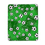 ALIREA Background With Football Gate And Soccer Super Soft Warm Blanket Lightweight Throw Blankets for Bed Couch Sofa Travelling Camping 60 x 50 Inch for Kids Boys Girls
