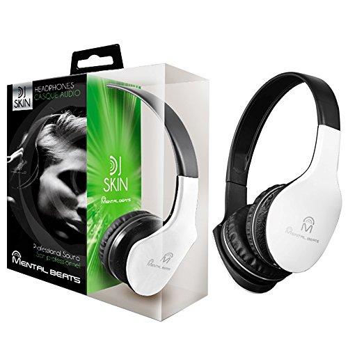 Mental Beats 695 Mental Beats Dj Skin HeadPhone, White