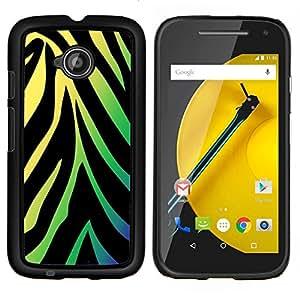 """Be-Star Único Patrón Plástico Duro Fundas Cover Cubre Hard Case Cover Para Motorola Moto E2 / E(2nd gen)( Patrón de neón de la cebra"""" )"""