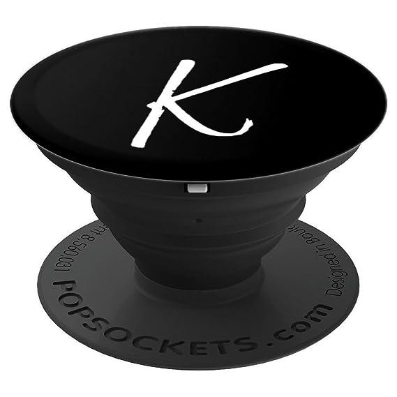 Amazon Com Letter K Popsocket Grip K Initial Monogram Style White