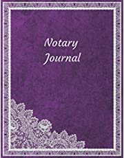 Notary Journal: Purple Notary Log Book For Women