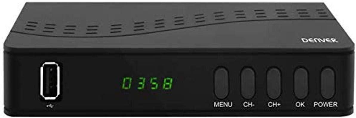 Denver Electronics Sintonizador TDT Denver Electronics Dtb-140 Dvb-t2 Negro