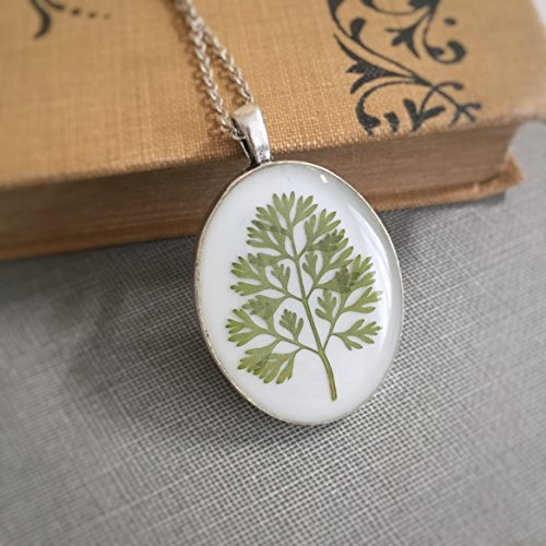 pressed leaf necklace - 8