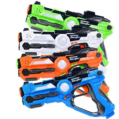 Costzon Laser Tag Set, Infrared Battle Shooting Games Laser Tag Blasters, Indoor & Outdoor Group Activity, 4 Pack - Laser Battle Set