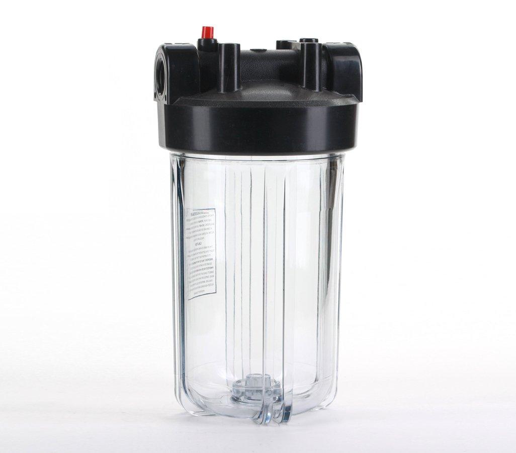 1.5 Ports Clear Body Black Hydronix HX-HF45-10CLBK15 Water Filter Housing 10 Big Blue Size