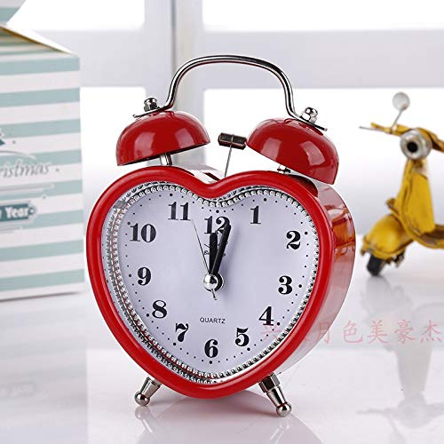 LTOOD Moda Creativa 3 Pulgadas Metal Campana Reloj Mute pequeño ...
