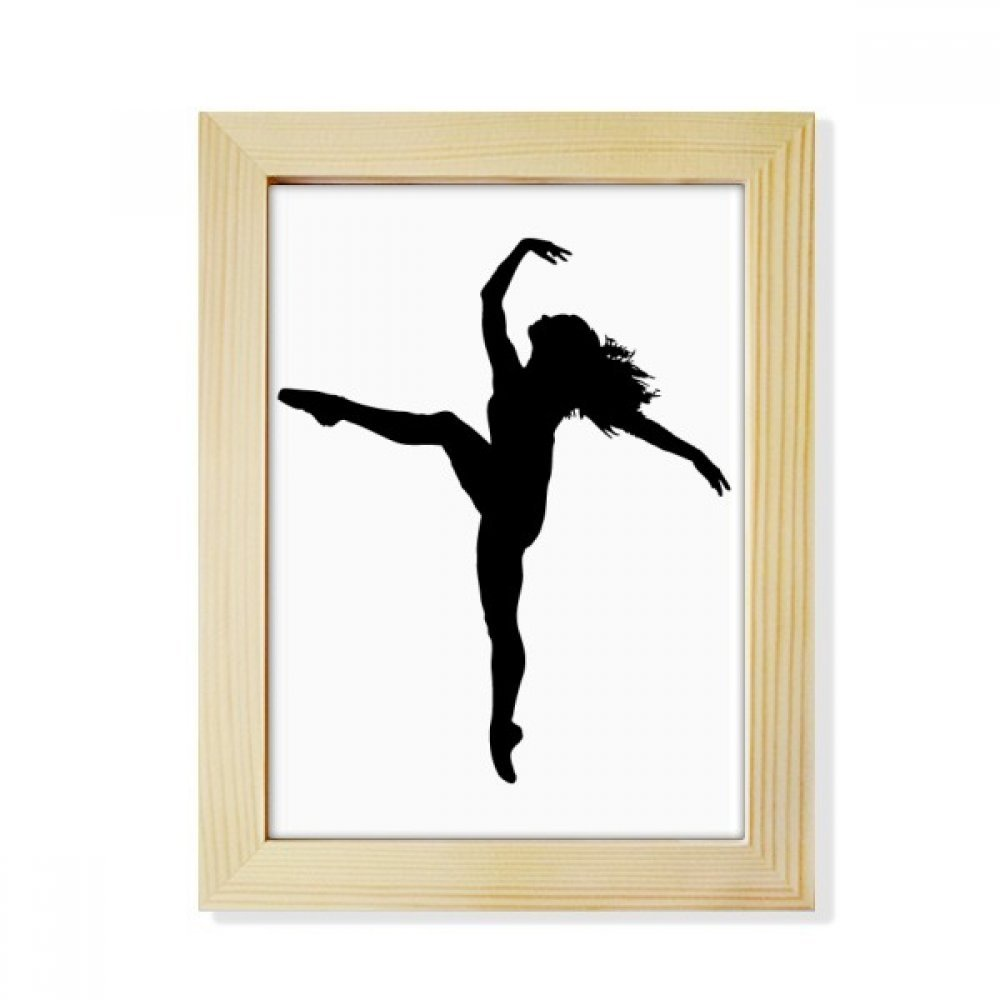 DIYthinker Dance Sports Dancer Performance Art Desktop Wooden Photo Frame Picture Art Painting 6x8 inch