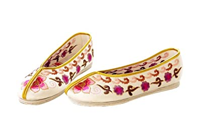 Artisanat Mules en Soie Chaussures Femme Confortables Mocassin Ballerines #106 2DPRLbG