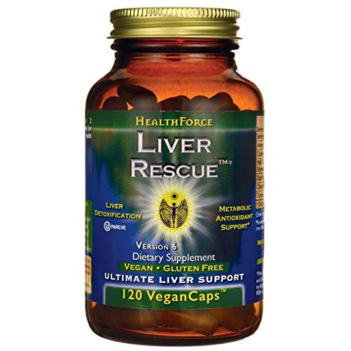 HealthForce SuperFoods Liver Rescue 120 Count Vegancaps, Version 6