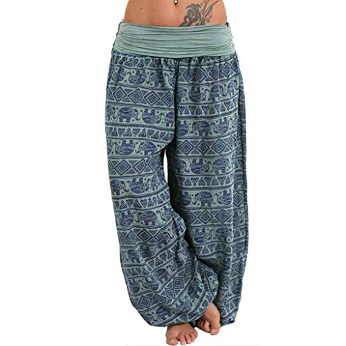 Women Plus Size Yoga Pants,Solid Color Casual Loose Harem Pants Rayon Waist Boho Soft Long Baggy Sports Dancing Pants