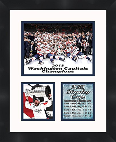 Alex Ovechkin Washington Capitals 2018 Stanley Cup Champions Framed 11 x 14 Matted Collage Framed Photos Ready to hang