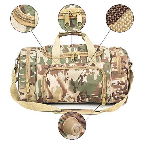 WolfWarriorX Military Tactical Duffle Bag, Large Storage Bag Luggage Duffle for Traveling, Gym, Vacation, Hiking & Trekking (OCP) by WolfWarriorX (Image #5)