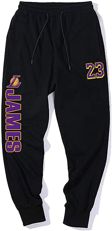 HEJX Lakers James No. 23 Pantalones de chándal Rocket McGrady Bull ...