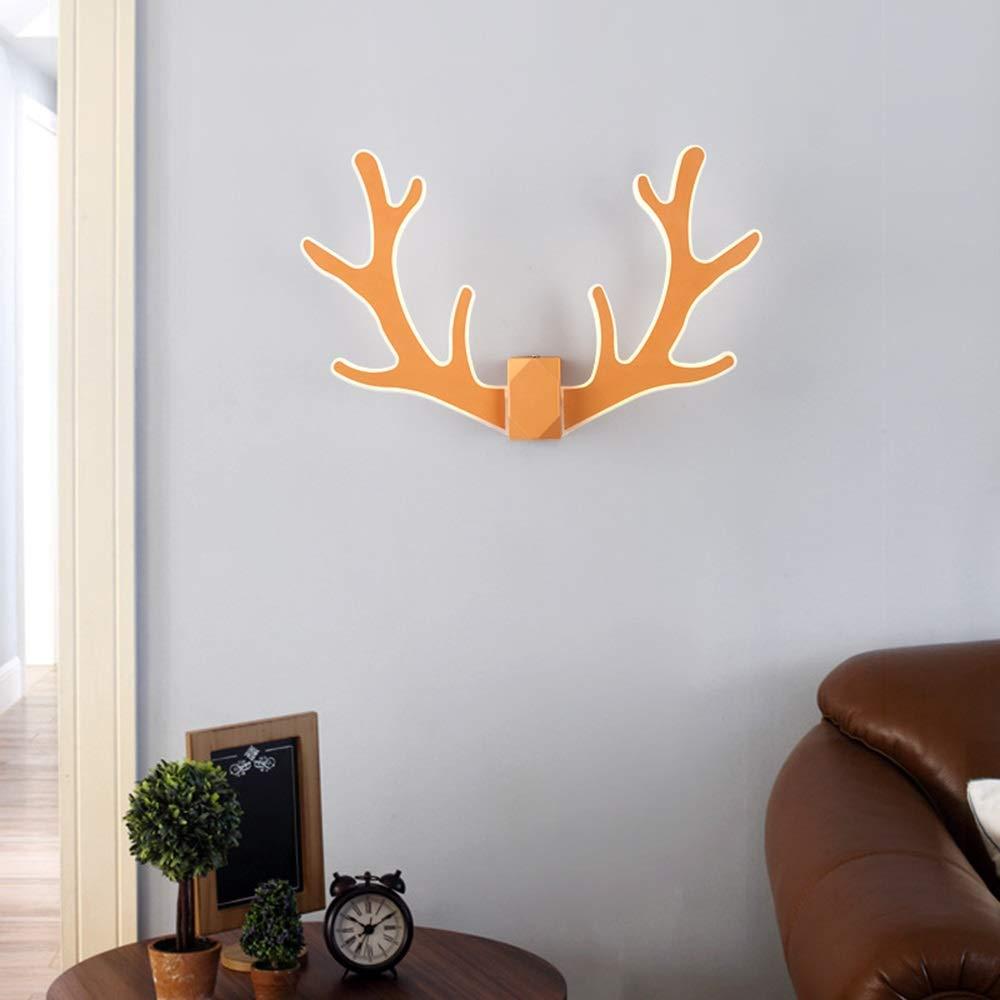 Wandleuchte, Nordic Kreative Kreative Kreative Antler Wandleuchte Wohnzimmer Hintergrund Wand Personality warme Licht Acryl Startseite Bett Dekoration LED-Lampen db08b2