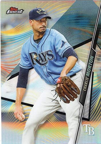 amazon com 2020 finest baseball refractor 67 charlie morton tampa bay rays official mlb trading card made by topps collectibles fine art amazon com