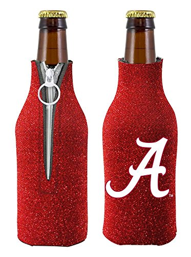 Insulated Alabama Bottle (NCAA Alabama Glitter Bottle Coolie, One Size, Multicolor)