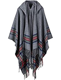Fashionable Open Front Poncho Capes with Hood