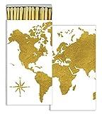 HomArt Matches - Continents - Gold Foil (Set of 50)