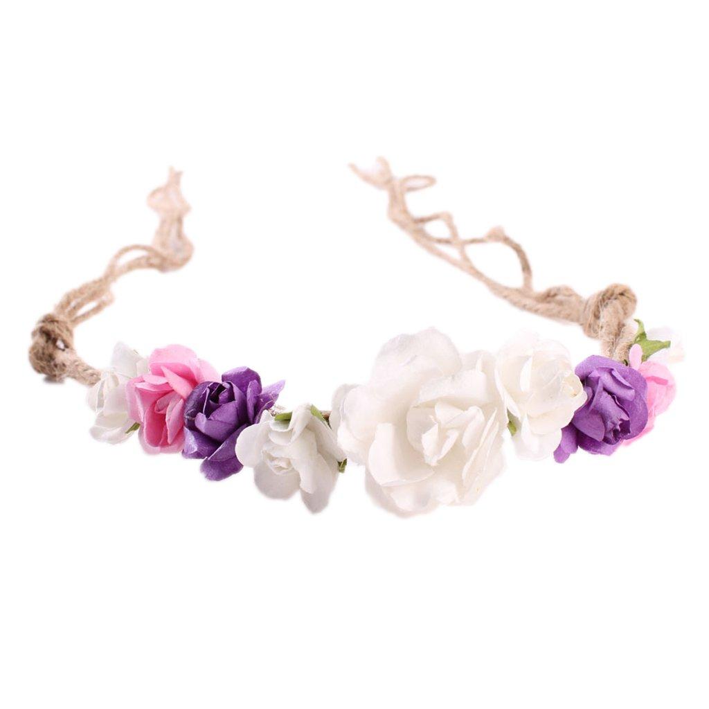 Fenteer Baby M/ädchen Blumen Stirnband Kopfband Haarschmuck Haarband Haarreif Fotografie Taufe Geschenk