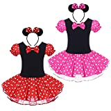 FYMNSI Baby Girls Polka Dots Princess Ballet Tutu Dress with Headband Dress up Costume for Birthday Party Pageant