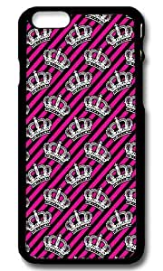 Rugged iPhone 6 Case,Pink Girly Crowns Custom Case Cover for Apple iPhone 6 4.7inch Polycarbonate Black