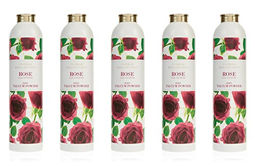 MARKS & SPENCER Rose Talcum Powder 200 g. (5 Pack) by Marks & Spencer
