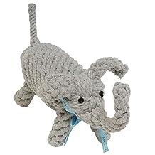 Jax & Bones Jumbo Good Karma Rope Toy, Coco The Elephant 13-Inch