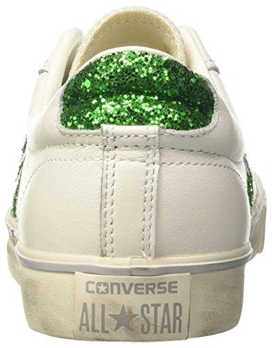 Collo Converse Ox Emerald Bianco Distressed White Pro Sneaker Vulc Turtledove a Leather Basso Star Donna Iwx1rIS