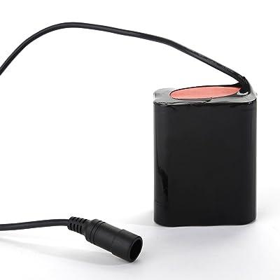 Zogin Module Batterie Rechargeable 6 pcs 18650 8.4V 13200mAh pour Lampe Phare de Vélo VTT VTC avec Sac Tissé Batterie Pile 18650 étanche pour Lumière Eclairage Torche de Bicyclette Cyclisme Bike