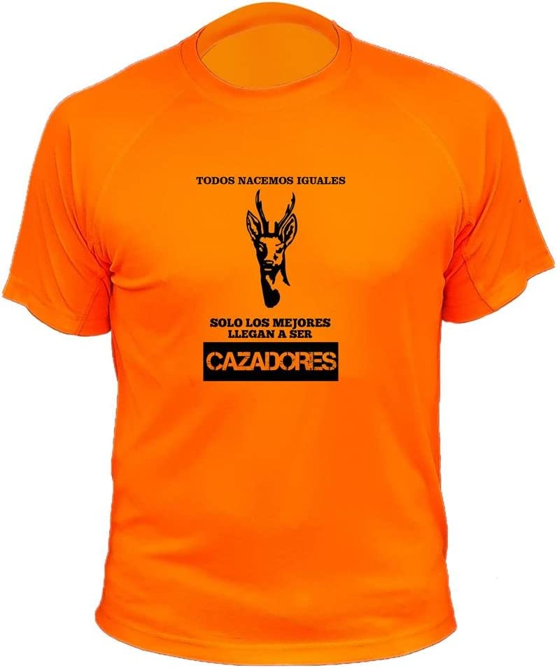 Todos nacemos Iguales Solo los Mejores Llegan a ser Cazadores Camisetas Personalizadas de Caza Venedo Ideas Regalos
