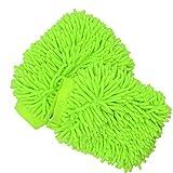 2 Pack Microfiber Car Wash Gloves, YSLF Microfiber Chenille Car Wash Mitt Car Wash Mop for Car Cleaning