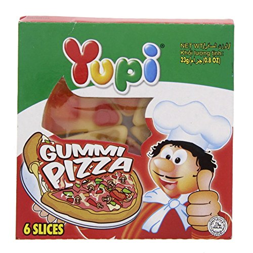 Yupi Gummy Candies GUMMI PIZZA , 23g (6 slices). - 5 Gum Fruit Punch