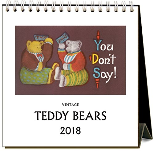 Found Image Press Teddy Bears 2018 Easel Desk Calendar
