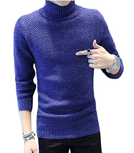 Be Loved Beloved Men's Warm Casual Knitted Sweater Long Sleeve Turtleneck Pullover Tops supplies