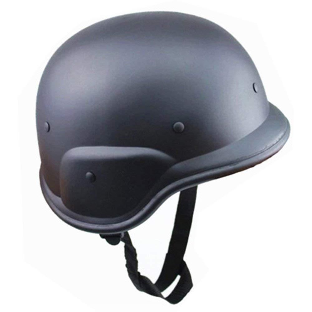 free size Cs Champ Casques M88 Plastique Camouflage Casque Guerre Chapeau Casque de Moto pour D/éguisement Militaire Airsoft Paintball - Camouflage Noir