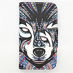 QJM The King Of The Forest Pattern PU Leather Full Body Case with Card Slot and Stand for iPhone 4/4S