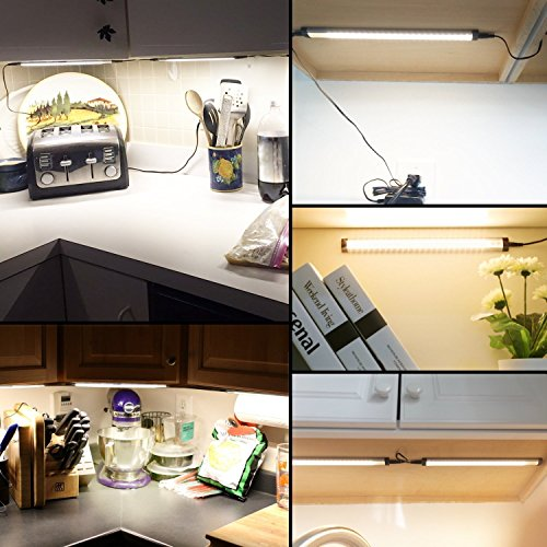 Albrillo LED Under Cabinet Lighting, Dimmable Under